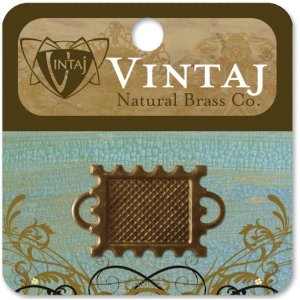 Vintaj Metal Bezel 1/Pkg Memoir Stamp 22mm